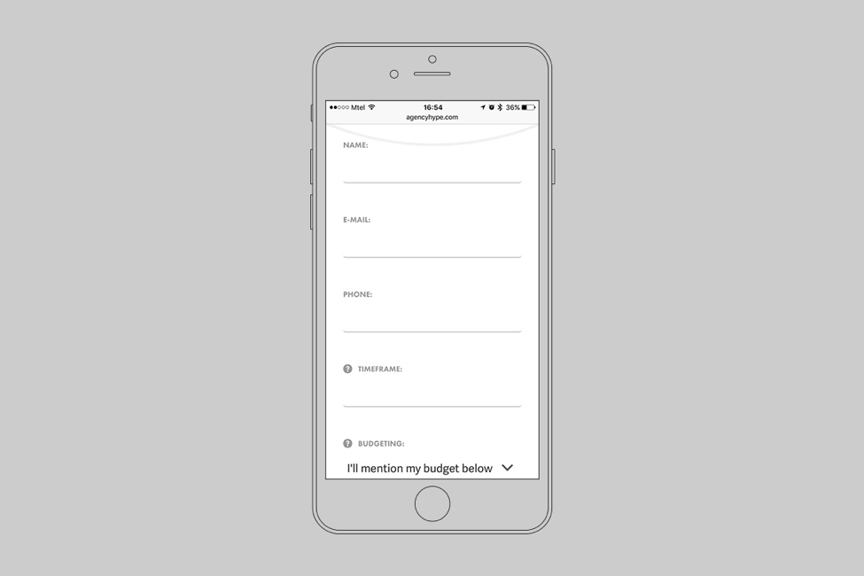 mobile website forms